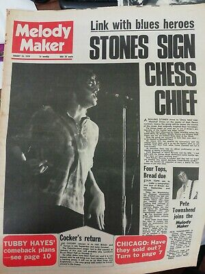 Melody Maker Newspaper August 15th 1970 Joe Cocker Rolling Stones Cover  • 4.99£
