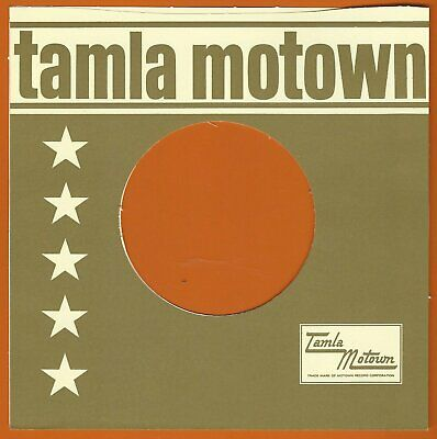 TAMLA MOTOWN (olive/cream) REPRODUCTION RECORD COMPANY SLEEVES - (pack Of 10) • 4.99£