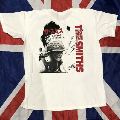 The Smiths Japanese Meat Is Murder Large White Rare New Bootleg Tshirt Morrissey • 2.75£