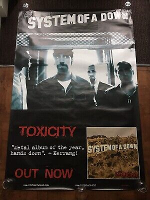 System Of A Down - Toxicity 2001 Giant Original Bus Stop Poster 1x1.5m Rare • 15.99£