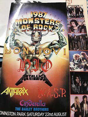 Monsters Of Rock Concert Programme Donnington Park 1987 With Tickets And Map • 10.50£