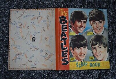 Official NEMS UK Beatles Scrap Book Scrapbook With 1966 Clippings Cuttings #1 • 39.99£