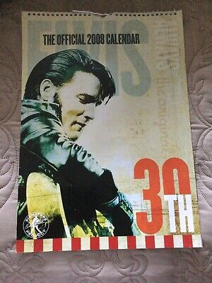 Official Elvis Presley 2008 Calendar • 5.99£