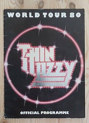 Thin Lizzy Used Concert Programme 1980 24 Pages. • 3.40£