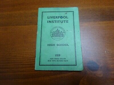 Beatles Liverpool Institute Green Book From 1959 • 99.99£