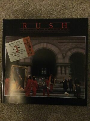 Rush Moving Pictures Tour Programme And Ticket Stub Wembley • 0.99£
