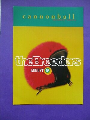 4AD The Breeders Cannonball PROMO FLYER 1993 ORIGINAL 2 SIDED A5 Pixies (poster) • 9£