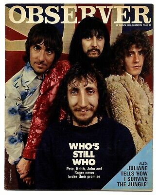 The Who Observer Magazine 19 March 1972 Complete 1 Day UK Magazine • 39£