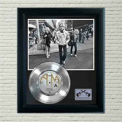 Police  Roxanne  Silver Framed Record Display • 71.49£