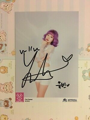 Pink Fantasy Yubin Yubeen Official Signed Photo MyDoll • 5£