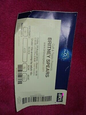 Britney Spears At The O2 Ticket 2018 • 1.30£