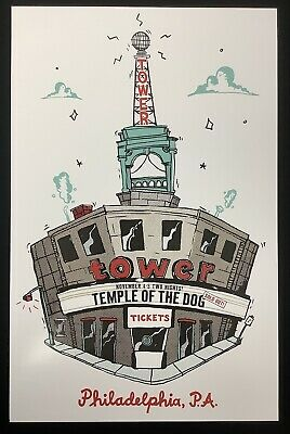 Temple Of The Dog 2016 Tower Theater Poster Chris Cornell Vedder Pearl Jam Darby • 35.46£