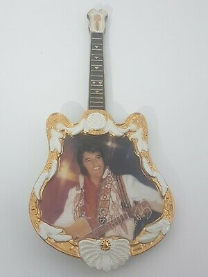 Elvis Presley The Spirit Collectable Guitar Shaped Ceramic Plate 1975 • 11.99£