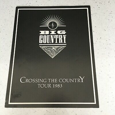 Big Country - Crossing The Country Tour Programme - 1983 - The Crossing - Rare!! • 20£