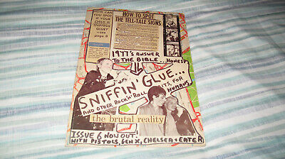SNIFFIN  GLUE   ORG  MAGAZINE  1978   10 EDITIONS INSIDE FROM No1 To No10 • 19.95£