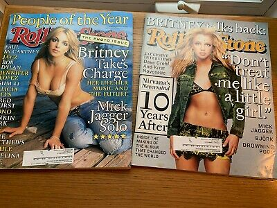 Rolling Stone Magazine BRITNEY SPEARS On Cover September 2001 And December 2001 • 14.66£