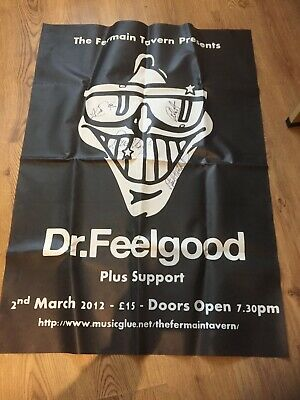 Giant Dr Feelgood Gig Poster Signed • 29.70£