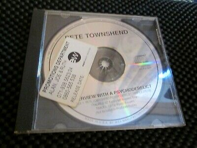 Pete Townsend Interview With A Psychoderelict -THE WHO Rare US Atlantic Promo • 15£