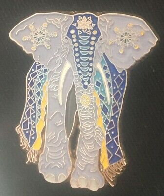 Psychedelic Elephant  With Flowers Pin Limited Edition • 11.58£