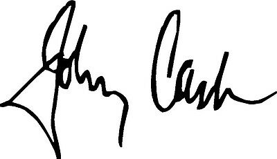 GJohnny Cash Autograph Design Decal / Sticker For Guitar , Wall Or Flat Surface  • 7.99£