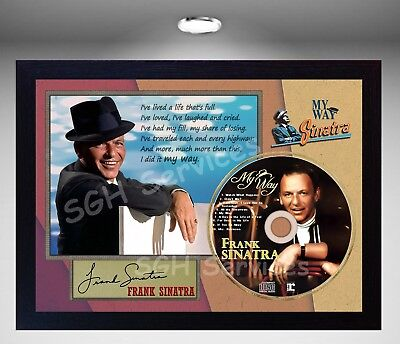Frank Sinatra My Way  SIGNED FRAMED PHOTO CD Disc Perfect Gift  • 19.99£