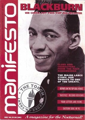 Manifesto - Northern Soul Magazine SELECT FROM Issue 2 (1994) To 83 (2007) • 6£