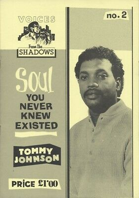 Voices From The Shadows - Rare Soul Fanzine/Magazine SELECT FROM Issues 1 To 25 • 6.50£