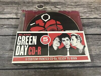 Green Day Blank CD-R 5 Pack Custom Printed Photo Covers Ready To Burn NEW Sealed • 15.79£