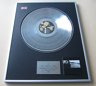 U2 The Joshua Tree PLATINUM PRESENTATION DISC • 109£