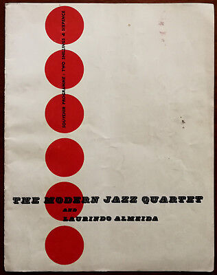The Modern Jazz Quartet And Laurindo Almeida Souvenir Concert Programme 1960's • 9.99£