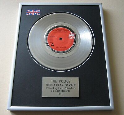 POLICE Spirits In The Material World PLATINUM PRESENTATION DISC • 59£
