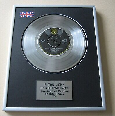 ELTON JOHN Lucy In The Sky With Diamonds PLATINUM PRESENTATION DISC • 59£
