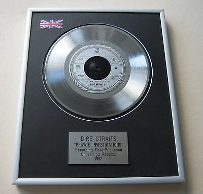 DIRE STRAITS Private Investigations PLATINUM PRESENTATION DISC • 65£