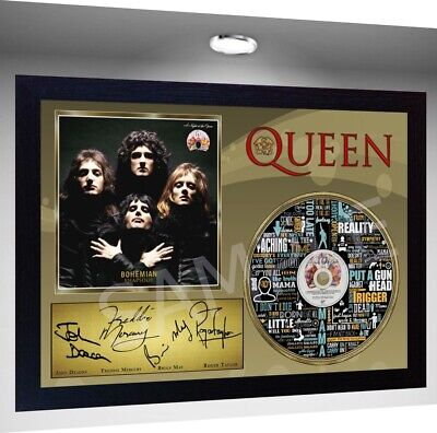 QUEEN Freddie Mercury MUSIC BOHEMIAN RHAPSODY SIGNED FRAMED PHOTO CD Disc  • 19.99£