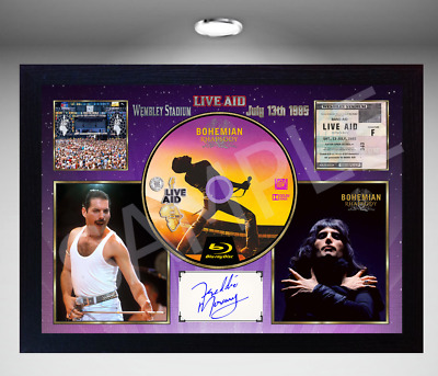 QUEEN Freddie Mercury MUSIC WEMBLEY STADIUM SIGNED FRAMED PHOTO CD Disc  • 19.99£