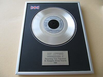 DEF LEPPARD Armageddon It  PLATINUM PRESENTATION DISC • 59£