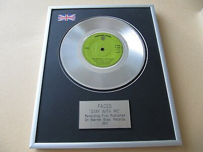 FACES Stay With Me PLATINUM PRESENTATION DISC • 59£