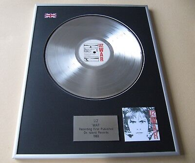U2 War PLATINUM PRESENTATION DISC • 89£