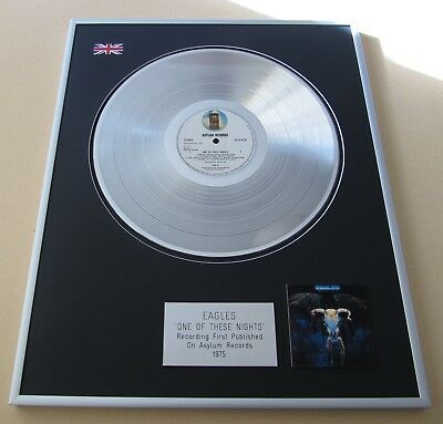 EAGLES One Of These Nights PLATINUM PRESENTATION DISC • 99£