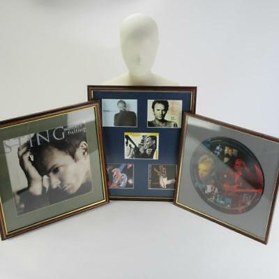 Sting Superfan Framed Wall Art Set Inc. Dream Of The Blue Turtles Picture Disc! • 40£