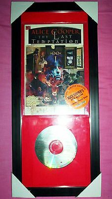 Alice Cooper Special Limited Edition THE LAST TEMPTATION Cd In Frame • 40£