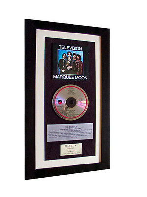 TELEVISION Marquee Moon CLASSIC CD Album QUALITY FRAMED • 44.95£