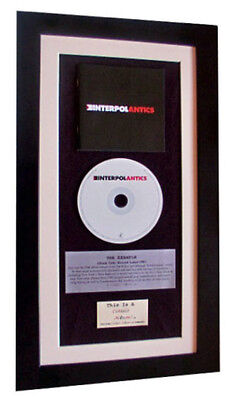 INTERPOL Antics CLASSIC CD GALLERY QUALITY FRAMED+EXPRESS GLOBAL SHIPPING! • 44.95£