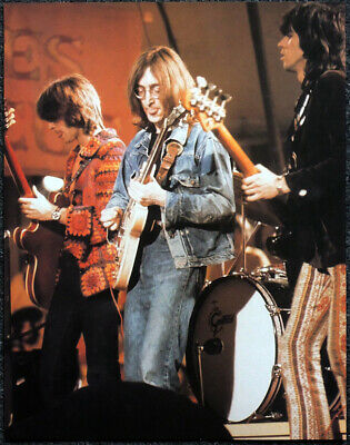 Eric Clapton Poster Page 1968 John Lennon Keith Richards Rock & Roll Circus .l14 • 5.99£