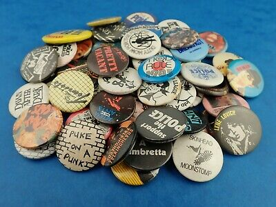 Vintage MUSIC BADGES - Rock Pop Punk Metal Etc - Choose Your Badge! • 29.99£