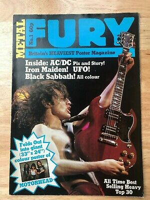 METAL FURY No.1 Poster Magazine  FIRST ISSUE  1982 • 22.50£