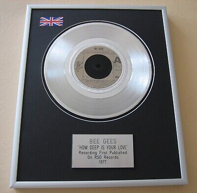 BEE GEES How Deep Is Your Love PLATINUM PRESENTATION DISC • 65£