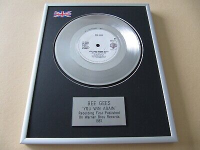 BEE GEES You Win Again PLATINUM PRESENTATION DISC • 65£