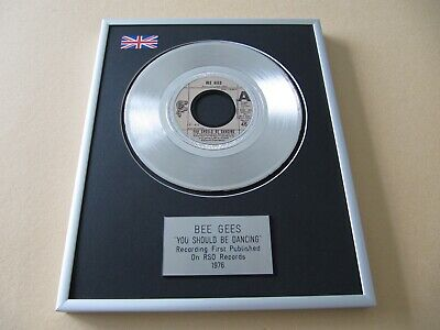 BEE GEES You Should Be Dancing PLATINUM PRESENTATION DISC • 65£