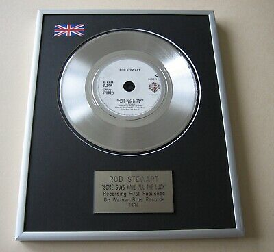 ROD STEWART Some Guys Have All The Luck PLATINUM PRESENTATION DISC • 59£